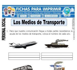los medios de transporte para primero de primaria