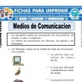 Medios de Comunicación para Primero de Primaria