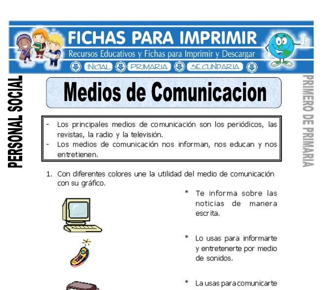 medios de comunicacion para primero de primaria