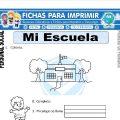 Ficha de Mi Escuela para Primero de Primaria