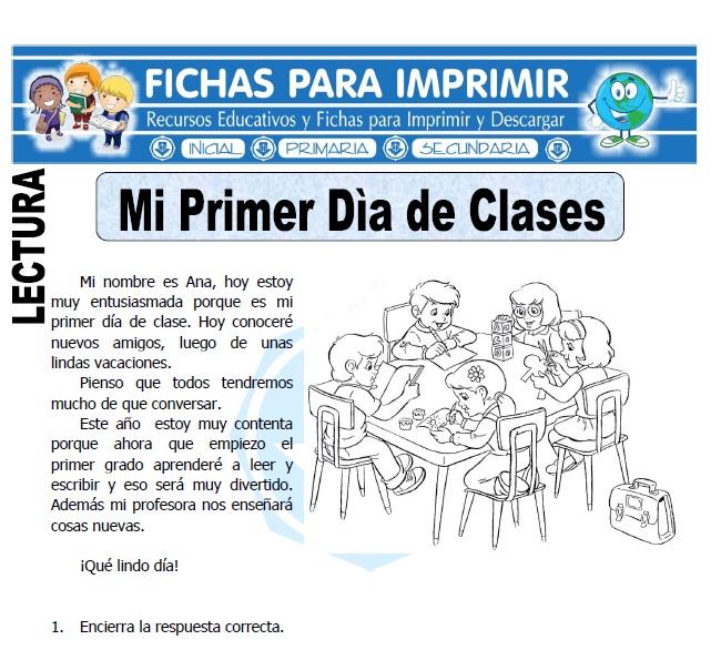 primer dia de clases para primaria