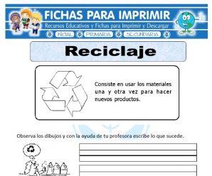 Ficha de Que es el Reciclaje para Primaria