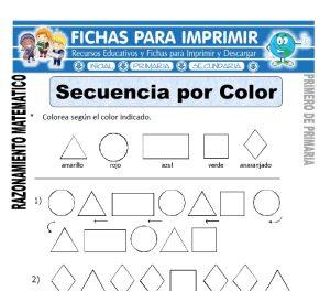 secuencia por color para primero de primaria