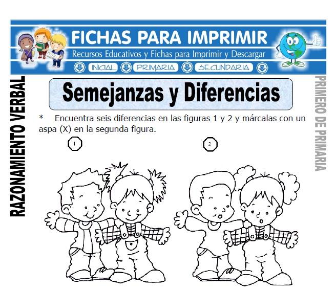semejanzas y diferencias para primero de primaria