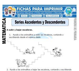 series ascendentes y descendentes para primero de primaria