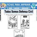 Somos Defensa Civil para Primero de Primaria
