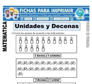 unidades y decenas para primero de primaria