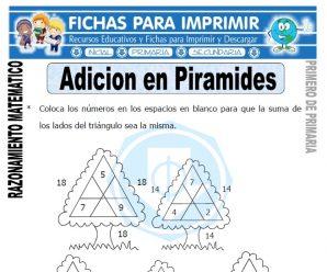 Adición en Pirámides para Primero de Primaria