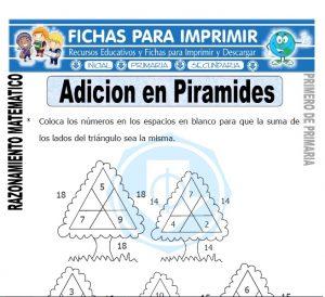 adicion en piramides para primero de primaria