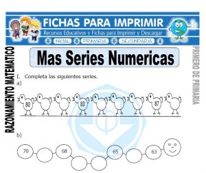 mas series numericas para primero de primaria