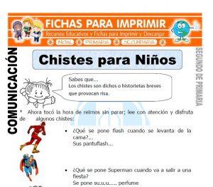 Ficha de Chistes para Niños Segundo de Primaria
