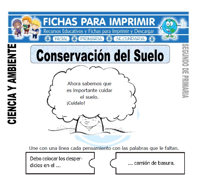 Ficha de Conservacion del Suelo Segundo de Primaria
