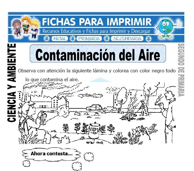 Ficha de Contaminacion del Aire Segundo de Primaria