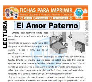 Ficha de El Amor Paterno Segundo de Primaria