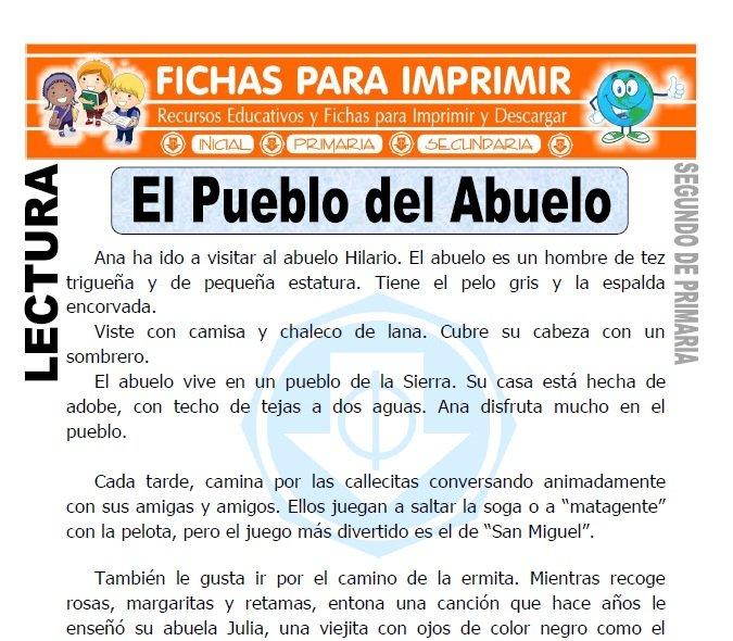 Ficha de El Pueblo del Abuelo Segundo de Primaria