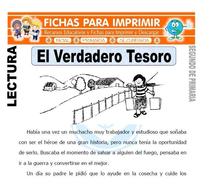 Ficha de El Verdadero Tesoro Segundo de Primaria