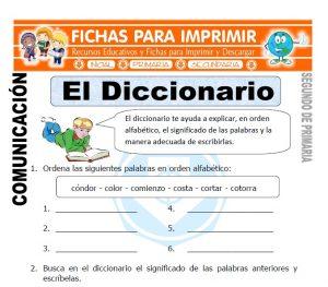 Ficha de El diccionario Segundo de Primaria