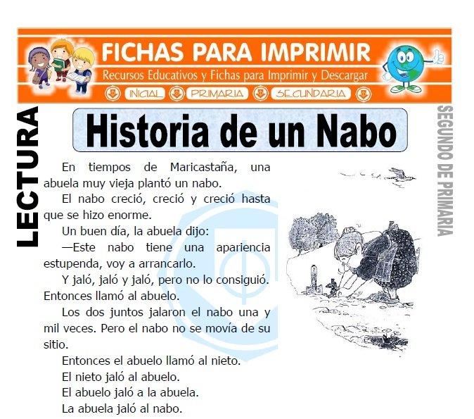 Ficha de Historia de un Nabo Segundo de Primaria