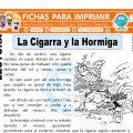 La Cigarra y la Hormiga para Segundo de Primaria