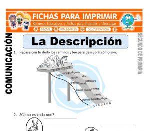 Ficha de La Descripcion Segundo de Primaria