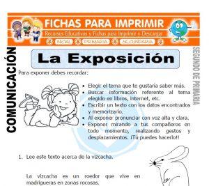 Ficha de La Exposicion Segundo de Primaria