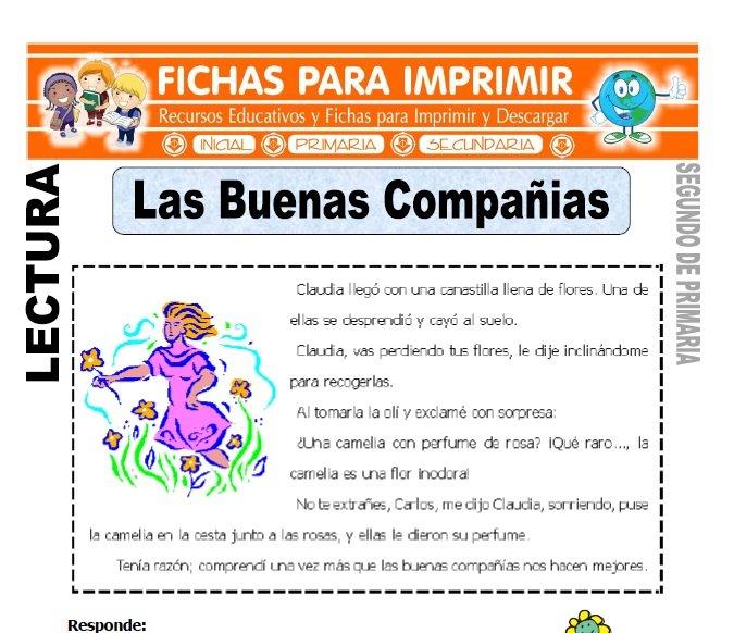 Ficha de Las Buenas Compañias Segundo de Primaria