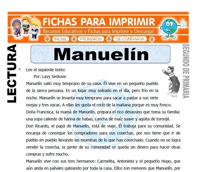 Ficha de Manuelin Segundo de Primaria