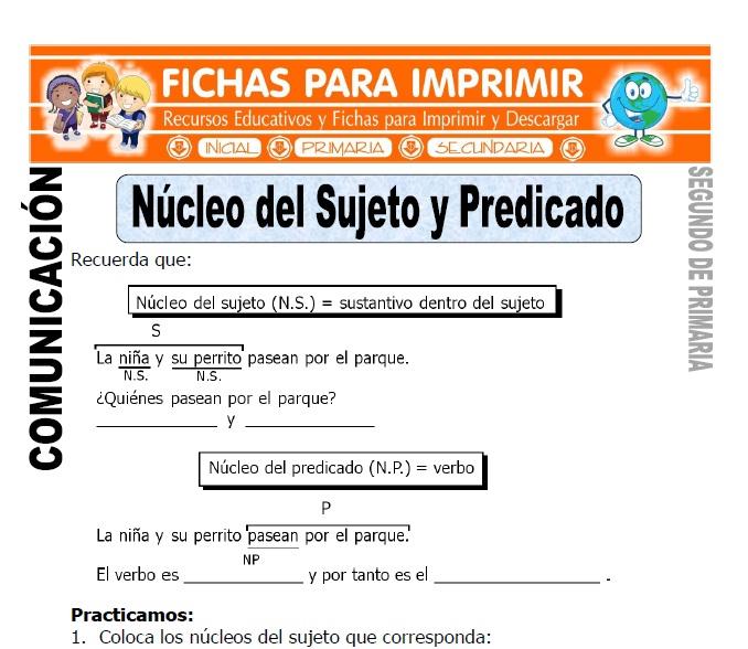 Fichas de Comunicación para Segundo de Primaria - Fichas para Imprimir