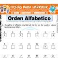 Orden Alfabético para Segundo de Primaria