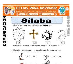 Ficha de Silaba Segundo de Primaria