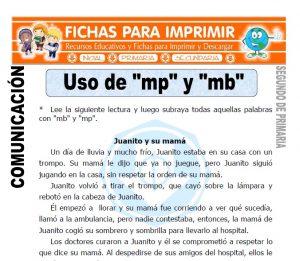 Ficha de Uso de mp y mb Segundo de Primaria