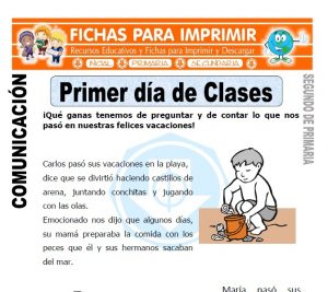 Ficha de primer dia de clase Segundo de Primaria