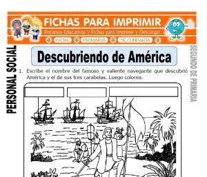Ficha de Descubriendo de América para Segundo de Primaria