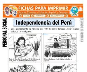 Independencia del Perú para Segundo de Primaria