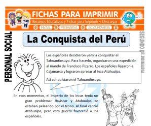 La Conquista del Perú para Segundo de Primaria