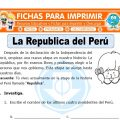 La República del Perú para Segundo de Primaria