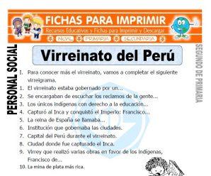 Virreinato del Perú para Segundo de Primaria