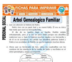 ficha de arbol genealogico familiar segundo de primaria