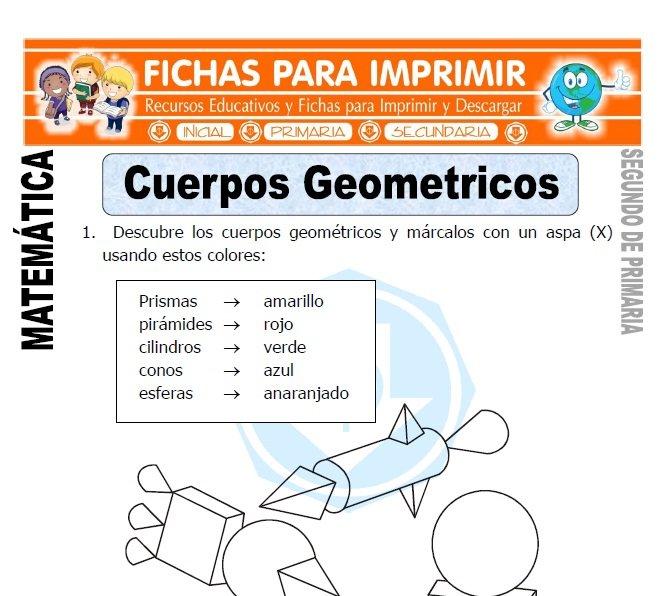 ficha de cuerpos geometricos para segundo de primaria
