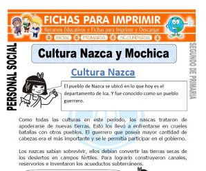 Cultura Nazca para Segundo de Primaria