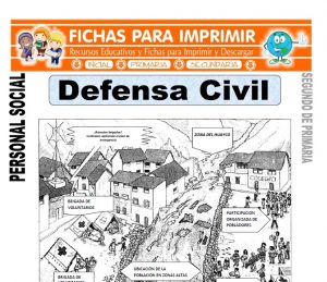 ficha de defensa civil segundo de primaria