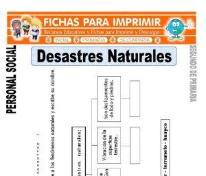 ficha de desastres naturales segundo de primaria