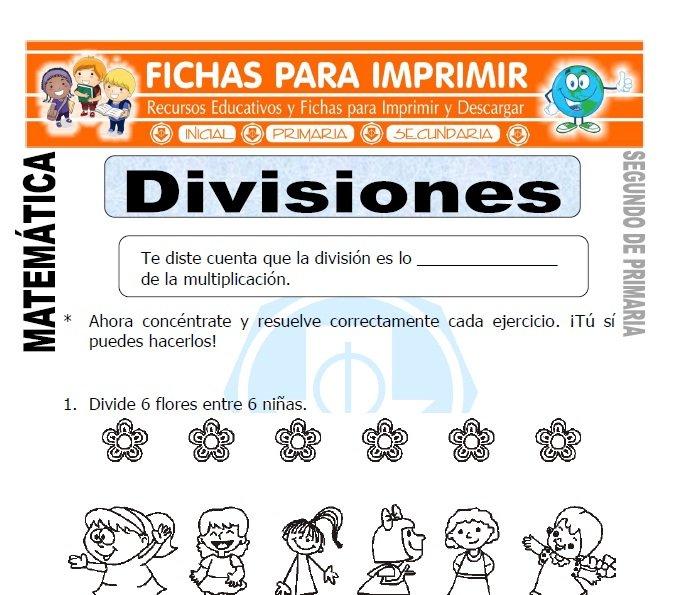 ficha de divisiones segundo de primaria