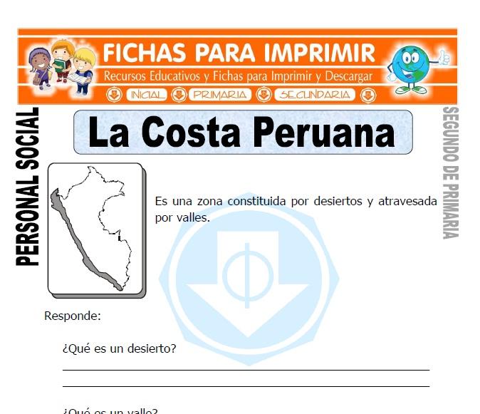 ficha de la costa peruana segundo de primaria