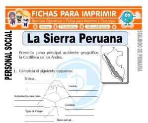 La Sierra Peruana para Segundo de Primaria
