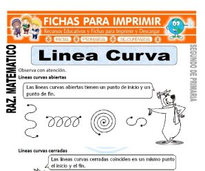 Linea Curva para Segundo de Primaria