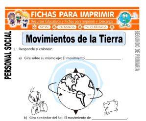 Movimientos de la Tierra para Segundo de Primaria