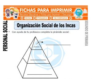 ficha de organización social de los incas segundo de primaria