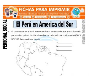 ficha de perú en américa segundo de primaria