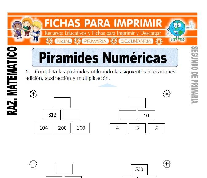 Piramides Numericas para Segundo de Primaria